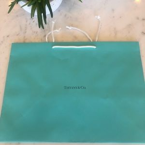 Tiffany & Co. Authentic Teal Shopping or Gift Bag
